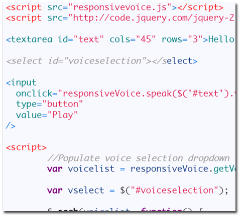 ResponsiveVoice JS Text to Speech